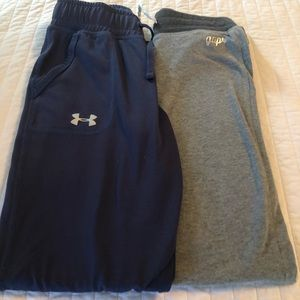 Lot of 2 girl's sweatpants- gap & under amour